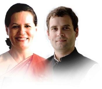 Rahul Gandhi with Sonia Gandhi