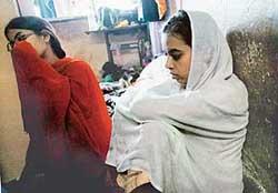 Ishrat's sisters Nuzhat and Zeenat