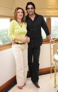 Wasim and Huma Akram