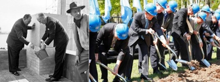 1950's Construction and today's renovation of UNHQ New York