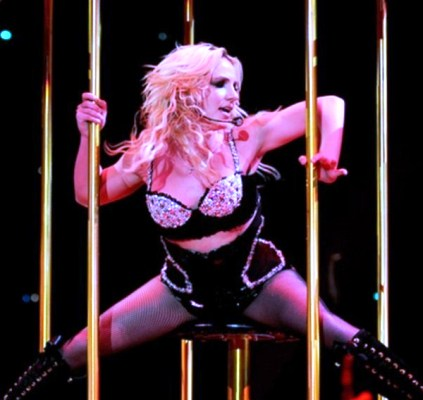 Britney Spears during her world famous 'Circus Tour'. Photo by Sumit Bajaj.