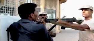 Rangers shooting the unarmed man in Pakistan. Web capture by Neeraj Bhushan.