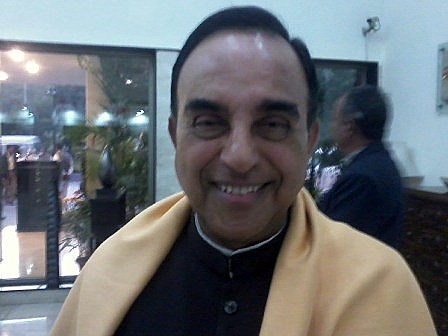 Subramanian Swamy during his book launch in New Delhi. Photo by Neeraj Bhushan