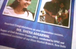 "Shena Aggarwal ""Bank of India"" IAS Topper"