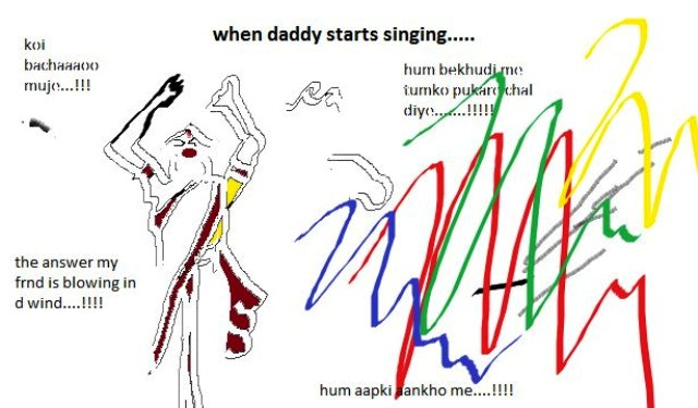 When Daddy Sings - Illustration by Shruti ©