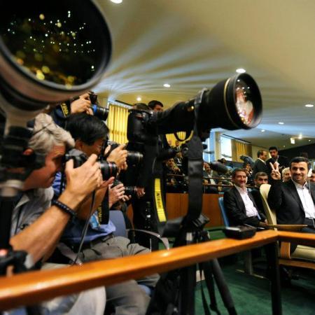 Mahmoud Ahmadinejad. Photo by Jennifer S. Altman
