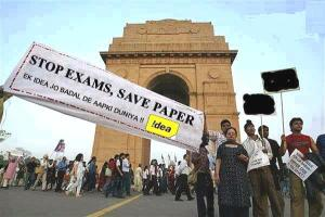 Say No To Exams, Save Paper - The Idea Cellular advertisement poster being circulated on social media