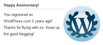 WordPress Greetings on Greater Voice Fifth Anniversary