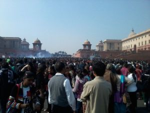 Protest at Raisina Hill. Photo by Vishnu Vijay.