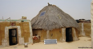 Home Lighting System in a hut in Jaisalmer District of Rajasthan.