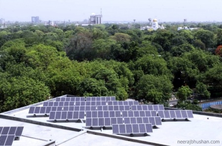 Solar Panels at Parliament Annexe, New Delhi