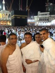 Musharraf in Mecca two days before heading to Pakistan.