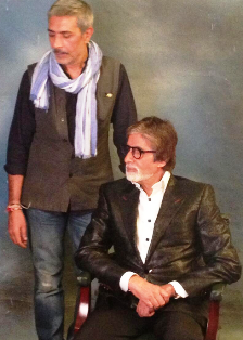Director Prakash Jha and actor Amitabh Bachchan discussing Satyagrah in New Delhi.