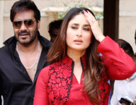Kareena Kapoor and Ajay Devgn promoting Satyagraha in Ahmedabad