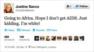 Her tweet cost her job.
