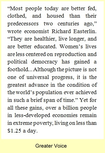 Richard Easterlin on Poverty